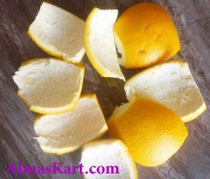 سفیدکردن دندان با پوست پرتغال